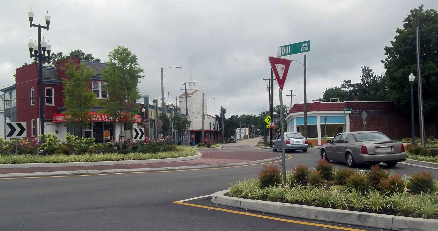 Six Points Intersection in Highland Park