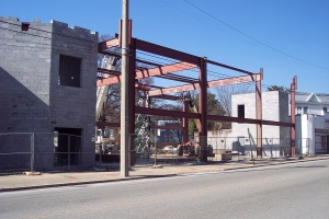 Steel construction going up